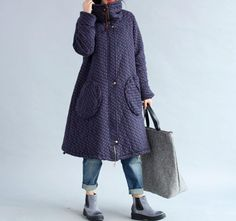 Winter loose padded coat large size long overcoats in by MaLieb