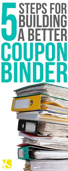 Free coupon binder printables coupon organization video more 5 easy steps to create and maintain your coupon binder fandeluxe Choice Image