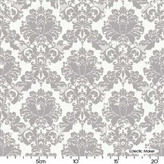 My Minds Eye Andrea Victoria Damask in Grey My Minds Eye Andrea Victoria Damask in Grey Riley Blake fabric for patchwork quilting and dressmaking from Eclectic Maker [C3552-GRAY] : Patchwork, quilting and dressmaking fabric, patterns, haberdashery and notions from Fabric for Patchwork, Quilting and Dressmaking from Eclectic Maker