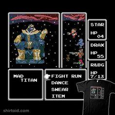 Final Galaxy | Shirtoid #8bit #comic #comics #film #finalfantasy #gaming #guardiansofthegalaxy #marvelcomics #movie #thanos #videogame