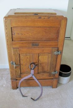 Vintage 1920s Oak Ice Box Refrigerator Storage - $875
