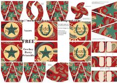 Mommy's Idea Notebook: FREE Western Party Printable Sets! {Cowboy & Cowgirl}