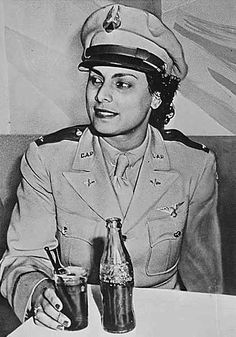 Willa Beatrice Brown, the first black woman to receive a commission as a lieutenant in the U.S. Civil Air Patrol. She trained Air Force pilots during in the 1940s.