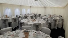 Beautiful chair covers at Cockliffe Country House by Midlands Chair Cover Hire