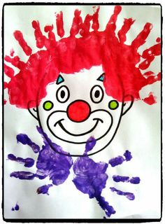 cirque et carnaval, clowns, Clown Crafts, Circus Crafts, Carnival Crafts, Mardi Gras, Theme Carnaval, Diy And Crafts, Crafts For Kids, Circus Theme, Preschool Activities
