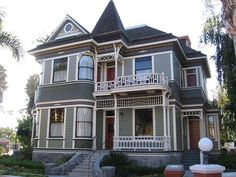 victorian house paint schemes white gray | and paint on the house. Beautiful deep shades of olive green, white ...
