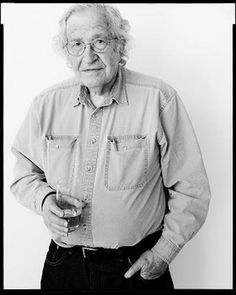 Noam Chomsky. Author, linguist, philosopher, logician, political activist and cognitive scientist... not a bad cook either.