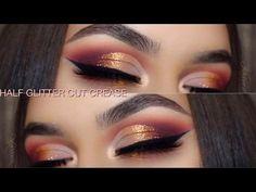 Warm Half Glitter Cut Crease | Violet Voss Holy Grail Palette - YouTube