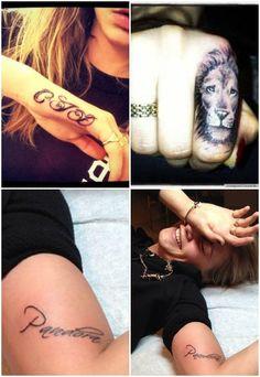 Tatuagens de Cara Delevigne - Tatuagem dos famosos: descubra as tattoos das celebridades!