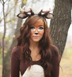 DIY Deer halloween costume with paper mache antlers / Őzike farsangi jelmez papír masé szarvakkal / Mindy