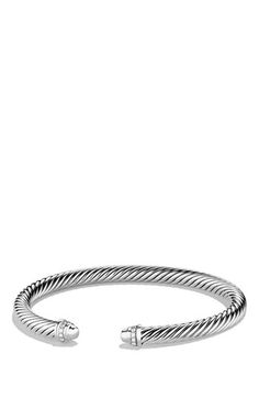 Free shipping and returns on David Yurman 'Cable Classics' Bracelet with Diamonds at Nordstrom.com. Sterling silver. Pavé diamonds, 0.07 total carat weight. Cable, 5mm wide. By David Yurman; made in the USA.