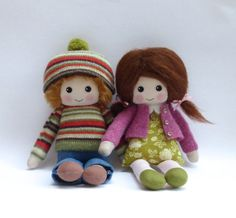 Reserved for Clare custom cloth doll by Lybo on Etsy