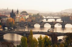 Bridges of Prague - Sigh....I miss this. Prague is my favorite place in the world! It's AMAZING!!