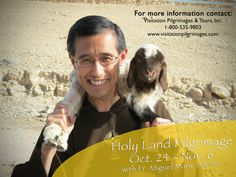 If watching #PopeFrancis' pilgrimage to the #HolyLand on #EWTN has gotten you thinking about visiting, look no further than our very own Father Miguel! Come fall, he will be the spiritual director for a two-week long retreat to the Holy Land, and he wants YOU to join him! If you're interested in joining Fr. Miguel of the @Monica Forghani Martin Missionaries of the Eternal Word MFVA for an incredible spiritual journey, click here!