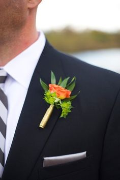 Shotgun shell boutonnière - Tennessee fall wedding