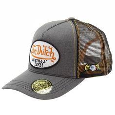 Von Dutch Men s Patch Still Alive Charcoal Trucker Cap Hat (one Size Fits  Most) 5d6d1b2ed3d