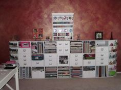 scrapbooking or craft storage