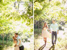 sunshine, love, romance, holding hands, sweet embrace, romantic images, couples portrait, atlanta photography :: Katie + Michael's Engagement Shoot at Whittier Mill Park in Atlanta GA :: with Jen
