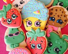 Riley Bakes - Custom Decorated Cookies by RileyBakes Shopkins Cookies, Shopkins Party, Shopkins Birthday Party Favors, Shopkins Cake, Bolo Shopkins, Shopkins Cookies, Shopkins Birthday Cake, Birthday Cookies, 6th Birthday Parties, Birthday Party Favors, 7th Birthday, Birthday Ideas, Pastel Shopkins