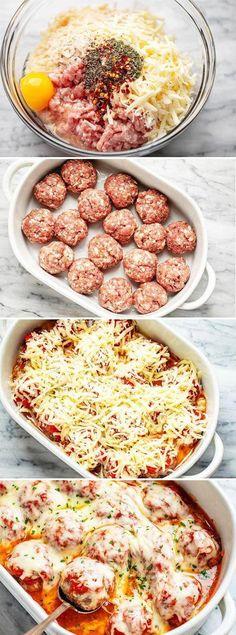 Turkey Meatball Casserole Recipe, Easy Casserole Recipes, Hamburger Casserole, Chicken Casserole, Turkey Recipes, Beef Recipes, Cooking Recipes, Carrot Recipes, Fish Recipes