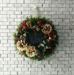 ドライローズのクリスマスリース by cutemio フラワー