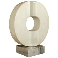 White Carrara Marble Sculpture By Gigi Guadagnucci
