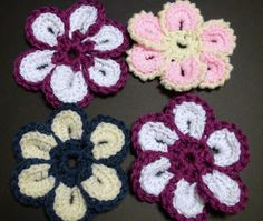 Crochet Geek - Free Instructions and Patterns: Cheerful Crochet Flower (Written Pattern and video)