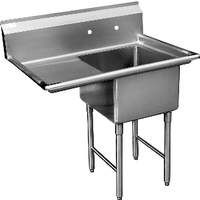 John Boos 1b244 1d24 X 1 Compartment Sink 24 X 24 X 14 Bowl W 24 Drainboard In 2020 Restaurant Sink Steel Kitchen Sink Sink