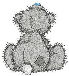 Teddy Bear missing you machine embroidery design. Machine embroidery design. www.embroideres.com