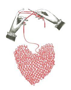 #illustration #knitting #heart #love