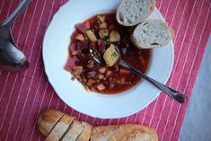 Ideal combination of flavours of lentils, beetroot, pork and sweet carrot. It is also a quick recipe for a tasty soup.