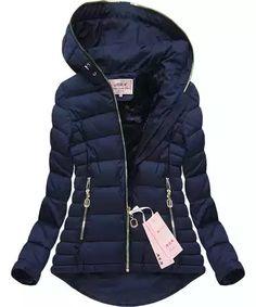 Dámská zimní bunda - modrá Velikost: L