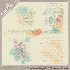 """""""Feeling Bright"""" Artistic Blends :: Brushes and Stamps :: Elements :: Memory Scraps"""