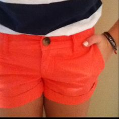 I am looking forward to summer and colored shorts! <3