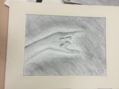 Medium: Graphite This is a drawing of my hand. I used shading to show the values of it.