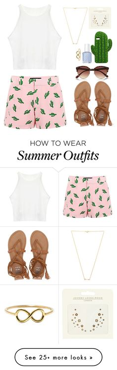 """Cute summer outfit"" by emmeleialouca on Polyvore featuring American Retro, Billabong, Wanderlust + Co, River Island, MANGO and Johnny Loves Rosie"