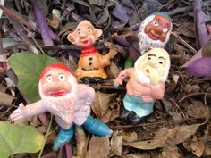 Vintage Walt Disney Snow White Dwarf Toy Lot by Sinsperations, $32.00