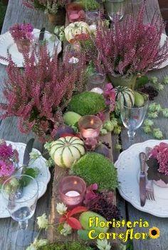 Calluna. Perfecta para decorar una mesa otoñal. Floristería Correflor. 91 695 62 71