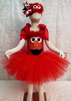 Fits 24 mo  4T Elmo Tutu Dress & Matching Headband by cd1ofakind