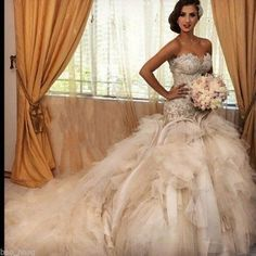 Organza Lace Wedding Dress Bridal dress Beaded Ball Gown Custom Size 4-22+ in Clothing, Shoes & Accessories, Wedding & Formal Occasion, Wedding Dresses | eBay