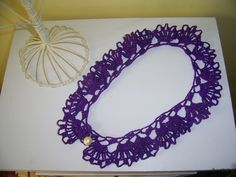 Crocheted Purple Collar Necklace by PinkPicot on Etsy, £10.00