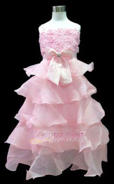 e755394ebbf45 Robe De Mariage Tenues Cortège Filles Enfant 7-9 ans Rose Girls Wedding Gown  114