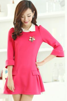 Color Block Flounce Dress