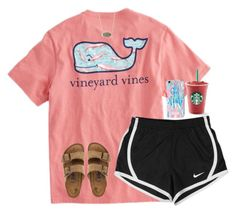 """Untitled #388"" by jazmintorres1 ❤ liked on Polyvore featuring Vineyard Vines, NIKE, Lilly Pulitzer, Birkenstock and Kendra Scott"