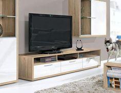 Modern Game Plus by Arte-M TV Unit in White/White or White/Oak #home #interiordesign #contemporaryfurniture #furniture #house #interiors