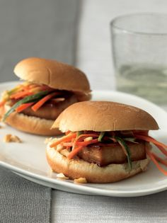 Kung Pao Sliders. This recipe won Best Appetizer in Vegetarian Times' 2011 Chef's Challenge.  http://www.vegetariantimes.com/recipe/kung-pao-sliders/?utm_source=EatingWisely_medium=newsletter_campaign=EatingWisely