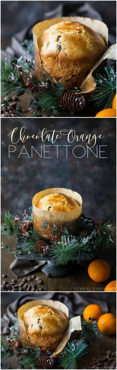 Personalized Graduation Gifts - Ideas To Pick Low Cost Graduation Offers Take Your Holiday Tradition To The Next Level With This Chocolate Orange Panettone Sweet, Moist Italian Yeast Bread, Studded With Citrus And Chocolate. Noel Christmas, Christmas Treats, Italian Christmas, Christmas Desserts, Holiday Baking, Christmas Baking, Delicious Desserts, Dessert Recipes, Frosting Recipes