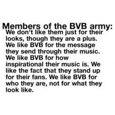 Black Veil Brides army. I am crying because of this, and now my eyeliner id running down my face. I look like a raccoon