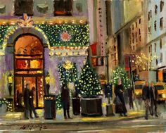 Harry Winston Jewelry Christmas Gift, painting by artist Hall Groat II