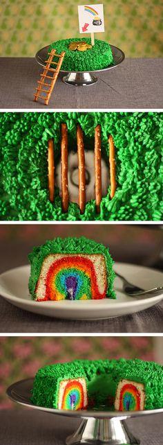 Leprechaun trap cake.